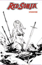 Image: Red Sonja #24 (incentive 1:20 cover - Lee B&W) - Dynamite