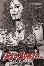 Image: Red Sonja: Price of Blood #3 (incentive 1:10 cover - Golden B&W) - Dynamite