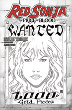 Image: Red Sonja: Price of Blood #3 (incentive 1:15 cover - Geovani B&W) - Dynamite