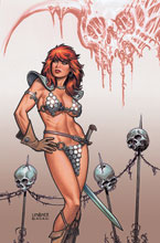 Image: Red Sonja: Price of Blood #3 (variant cover - Linsner virgin) - Dynamite