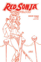 Image: Red Sonja: Price of Blood #3 (variant Crimson Red Line Art cover - Linsner) - Dynamite