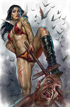 Image: Vengeance of Vampirella #15 (variant cover - Parrillo virgin) - Dynamite