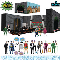 Image: Batman 1966 5 Points Action Figure Deluxe Box Set  - Mezco Toys