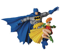 Image: Dark Knight Returns Mafex Action Figure: Batman  (Blue version) & Robin - Medicom Toy Corporation