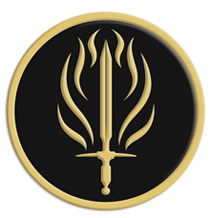 Image: Dragon Age II Embroidered Patch: Templars  - Dark Horse