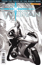 Image: Bionic Woman #2 (15-copy Renaud B&W incentive cover) (v15) - Dynamite