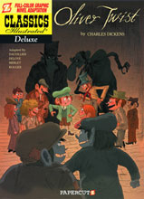 Image: Classics Illustrated Deluxe Graphic Novel Vol. 08: Oliver Twist SC  - Papercutz