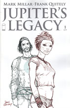 Image: Jupiter's Legacy #1 (25-copy Quitely B&W incentive cover) - Image Comics