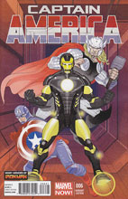 Image: Captain America #6 (NOW!) (Iron Man Many Armors Ferry variant cover) - Marvel Comics
