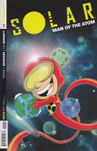Image: Solar: Man of the Atom #1 (125-copy incentive cover - Ken Haeser Li'l Solar) - Dynamite