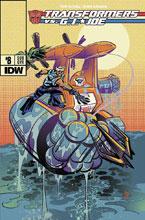Image: Transformers vs. G.I. Joe #8 (subscription cover - Andy Suriano) - IDW Publishing
