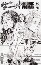 Image: Wonder Woman '77 Meets the Bionic Woman #5 (Phil Jimenez b&w incentive cover - 05041) (25-copy)  [2017] - Dynamite