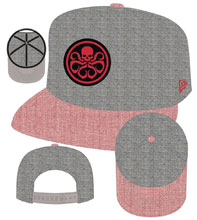 Image: Marvel Snap Back Cap: Hydra & Shield Symbol Heather Action  - New Era Cap Co
