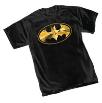 Image: Batman T-Shirt: Cube Symbol  (M) - Graphitti Designs