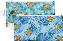 Image: Disney Reusable Snack Bag: Finding Nemo 2-Pack  (S) - Bumkins Finer Baby Products