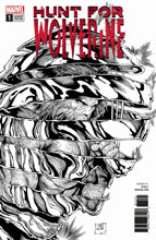 Image: Hunt for Wolverine #1 (variant cover - McNiven B&W) - Marvel Comics