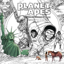 Image: Planet of the Apes Adult Coloring Book SC  - Boom! Studios
