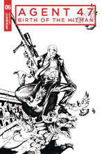 Image: Agent 47: Birth of the Hitman #6 (cover C incentive - Lau B&W) (10-copy) - Dynamite