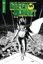 Image: Green Hornet Vol. 02 #2 (cover D - Chen B&W) (20-copy) - Dynamite