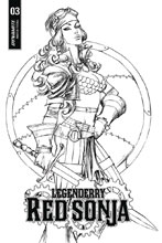 Image: Legenderry Red Sonja Vol. 02 #3 (cover B incentive - Benitez B&W) (10-copy)  [4] - Dynamite