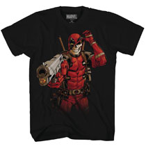 Image: Deadpool T-Shirt: Skull Shot [Black]  (M) - Mad Engine
