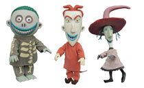 Image: Nightmare Before Christmas Deluxe Doll Set: Lock, Shock and Barrel  - Diamond Select Toys LLC