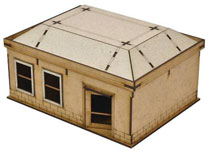 Image: Walking Dead: All Out War Mini-Game - Woodbury House 3 Kit  - Mantic Games