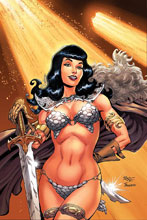 Image: Bettie Page: Unbound #1 (variant cover - Royle virgin) - Dynamite