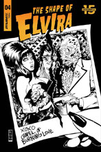 Image: Elvira: The Shape of Elvira #4 (incentive cover - Acosta B&W) (30-copy) - Dynamite