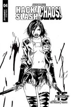 Image: Hack / Slash vs. Chaos #5 (incentive cover - Celor B&W) (20-copy) - Dynamite
