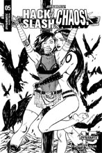 Image: Hack / Slash vs. Chaos #5 (incentive cover - Seeley B&W) (25-copy) - Dynamite