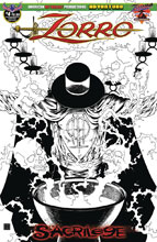 Image: Zorro: Sacrilege #4 (variant cover - Visions of Zorro B&W) cover - American Mythology Productions
