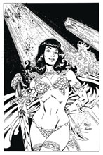 Image: Bettie Page: Unbound #1 (variant DFE cover - virgin B&W) - Dynamic Forces