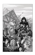 Image: Xena #1 (variant DFE cover - virgin B&W) - Dynamic Forces