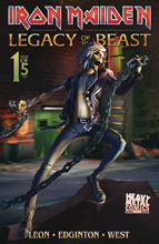 Image: Iron Maiden - Legacy of the Beast Vol. 2: Night City #1 (cover B - Casas) - Heavy Metal Magazine