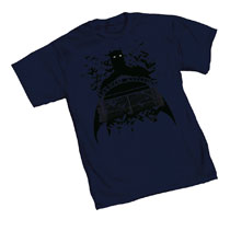 Image: Batman T-Shirt: Arkham Gates  (XL) - Graphitti Designs