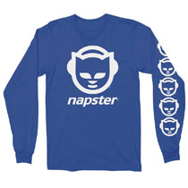 Image: Napster Long Sleeve T-Shirt [Blue]  (S) - T Line Design