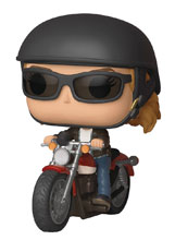Image: Pop! Rides Bobble-Head 057: Captain Marvel - Carol Danvers on Motorcycle  - Funko