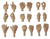 Image: Nendoroid Doll Hand Parts 18-Piece Set  (cinnamon version) - Good Smile Company