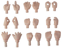 Image: Nendoroid Doll Hand Parts 18-Piece Set  (cream version) - Good Smile Company