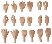 Image: Nendoroid Doll Hand Parts 18-Piece Set  (peach version) - Good Smile Company
