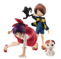 Image: Gem Series Gegege No Kitaro PVC Figure Set: Kitaro & Nekomusume  (2-Piece) - Megahouse Corporation