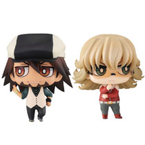 Image: Tiger & Bunny Chimimega Buddy Series 2-Piece Set: Kotetsu & Barnaby  - Megahouse Corporation