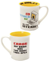 Image: Rather be on the Internet Mug  - Our Name Is Mud