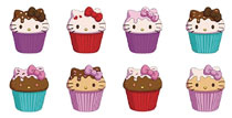 Image: Hello Kitty Cupcake Squishme 24-Piece Display  - Ucc Distributing