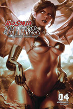 Image: Red Sonja: Age of Chaos #4 (incentive 1:20 cover - Chew monochromatic) - Dynamite