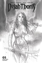 Image: Dejah Thoris Vol. 03 #5 (incentive 1:10 cover - Parrillo B&W) - Dynamite