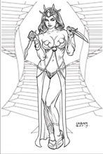 Image: Dejah Thoris Vol. 03 #5 (incentive 1:40 cover - Linsner B&W virgin) - Dynamite