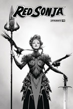 Image: Red Sonja #15 (incentive 1:30 cover - Lee B&W) - Dynamite