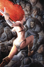 Image: Red Sonja #15 (incentive 1:40 cover - Bob Q virgin) - Dynamite